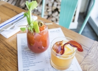 Adele's offers several breakfast cocktails to choose from, including a bacon-topped bourbon drink and others. (Courtesy Adele's)