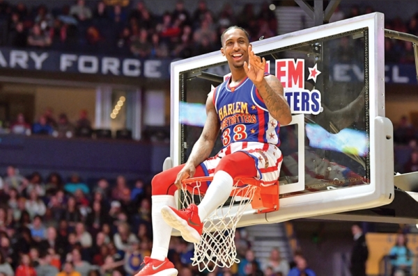 The Harlem Globetrotters will perform at Bridgestone Arena on Jan. 25. (Courtesy Harlem Globetrotters)