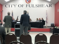 Fulshear City Council discusses water rates. (Nola Z. Valente/Community Impact Newspaper)