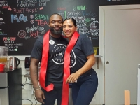 Husband and wife Brandon and Escarlet Barrett celebrated the grand opening of their new business, Driven By Nutrition, with a ribbon-cutting ceremony Dec. 28. (Courtesy Driven by Nutrition)