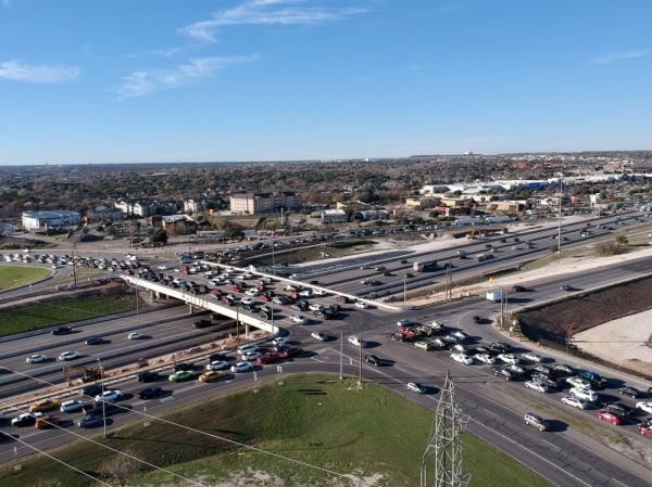 Parmer Lane diverging diamond (Courtesy Texas Department of Transportation)