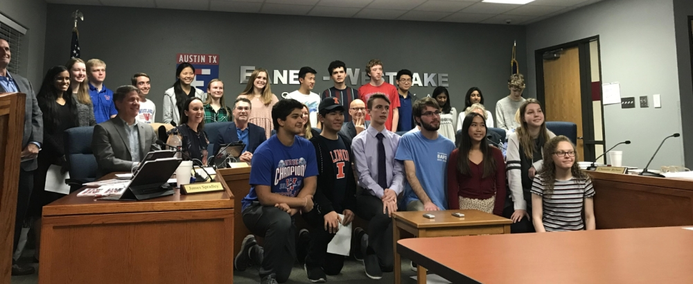 The board of trustees recognized the 51 Westlake High School students who have been named semifinalists. (Amy Rae Dadamo/Community Impact Newspaper)