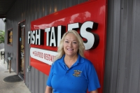 Diana Harpring owns two Fish Tales locations with her husband, Scott. (Photos by Kelly Schafler/Community Impact Newspaper)