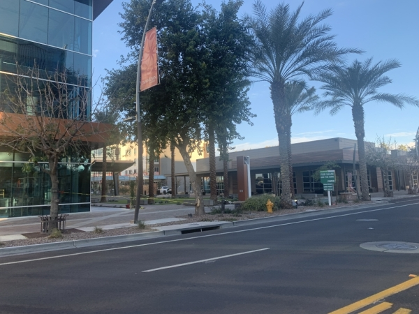 Downtown Chandler's New Square development. (Alexa D'Angelo/Community Impact Newspaper)