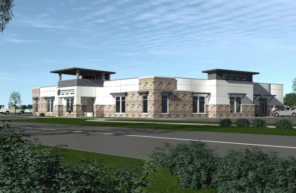 This rendering depicts the Champion Site Prep Inc. facility planned for the far north corner of Georgetown on I-35 and CR 143. (Rendering courtesy city of Georgetown)