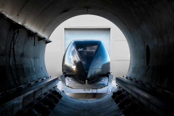 Virgin Hyperloop was founded in 2014 and opened a test track in Nevada in 2017. The company is now seeking a location for a Hyperloop Certification Facility. (Courtesy Virgin Hyperloop One)