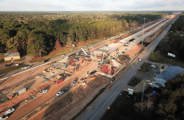 The opening of the Montgomery County Toll Road Authority's portion of Hwy. 249 main lanes was delayed from February until this spring, according to Montgomery County Precinct 2 Commissioner Charlie Riley. This photo was taken in early December. (Courtesy office of Precinct 2 Commissioner Charlie Riley)