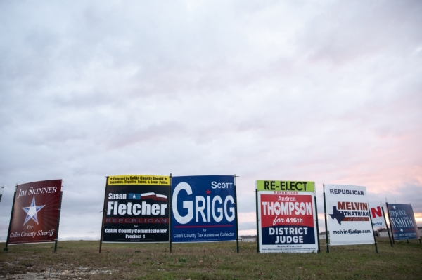 Registered voters in Collin County can vote in the races for tax assessor-collector, Precinct 1 commissioner, and judges for the 380th and 401st districts, as well as federal and state level representatives and presidential candidates at the March 3 election. (Liesbeth Powers/Community Impact Newspaper)