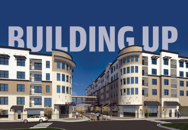 """Magnolia Lights—the first mixed-use, multifamily development in the city of Magnolia—underwent a redesign since its initial design released in July 2019, said Pauline Thude-Speckman, the president of Meridian Investment Realty and developer of the project. The new design better suits the Magnolia area, taking a more """"old-town feel,"""" she said. (Rendering courtesy Meridian Investment Realty)"""