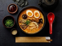 The restaurant offers a variety of ramen; classic Chinese dishes, such as kung pao chicken and mongolian beef; fried rice; wings; and street bites, such as egg rolls and fried dumplings. (Courtesy Ichigo Curry & Ramen)