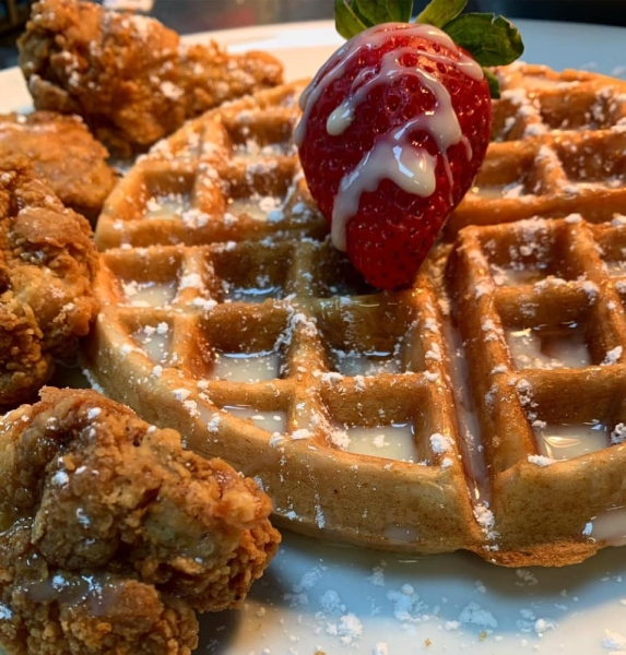 The restaurant offers a variety of flavors of chicken wings, chicken and waffles and Cajun sides. (Courtesy Jaquay's Chicken and Waffles)