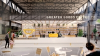 Greater Goods Coffee Co. has been added as a future tenant at the St. Elmo Public Market. (Rendering courtesy Andersson / Wise)