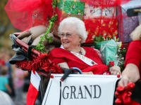 Pat Bryson served as grand marshal of the Old Town Christmas Parade in Leander on Dec. 2, 2017. (Courtesy city of Leander)