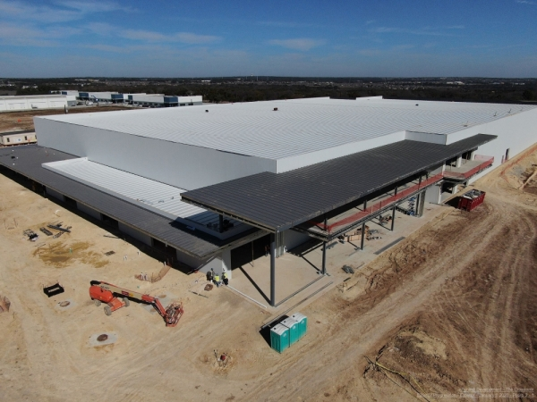 The Crossover—a 240,000-square-foot multisports facility currently under construction in Cedar Park—is scheduled to open in the spring. (Courtesy Multivista)