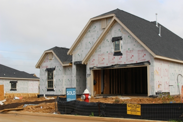 Copper Cove on Cherry Street is among several subdivisions under construction in the city of Tomball. (Anna Lotz/Community Impact Newspaper)