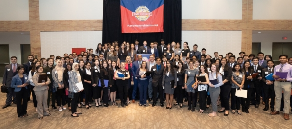 Students take part in the job fair in 2019 as part of the Plano Mayor's Summer Internship Program. (Courtesy Plano Mayor's Summer Internship Program)