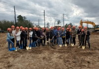 Consultants in Dental Aesthetics staff held a groundbreaking ceremony for a new Spring location, expected to open in fall 2020. (Kim Laurence/Community Impact Newspaper)