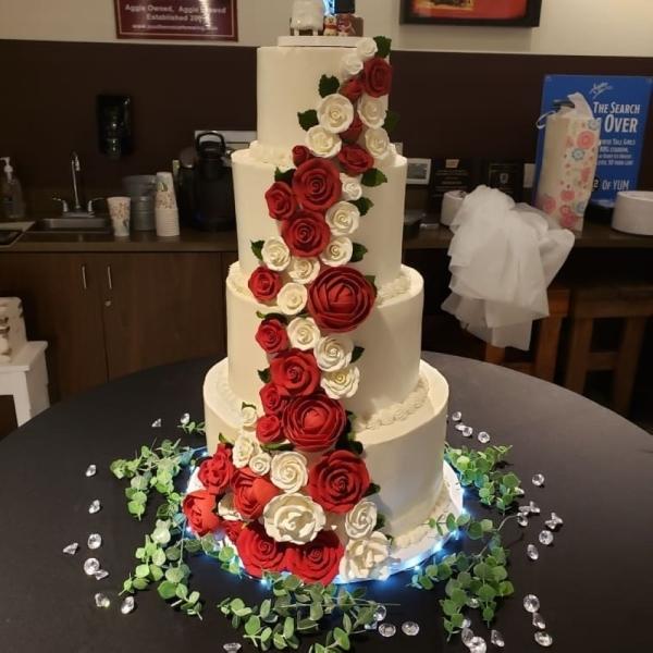 The bakery creates many custom baked goods, including wedding cakes. (Courtesy Vernele's Bayou Bakery)