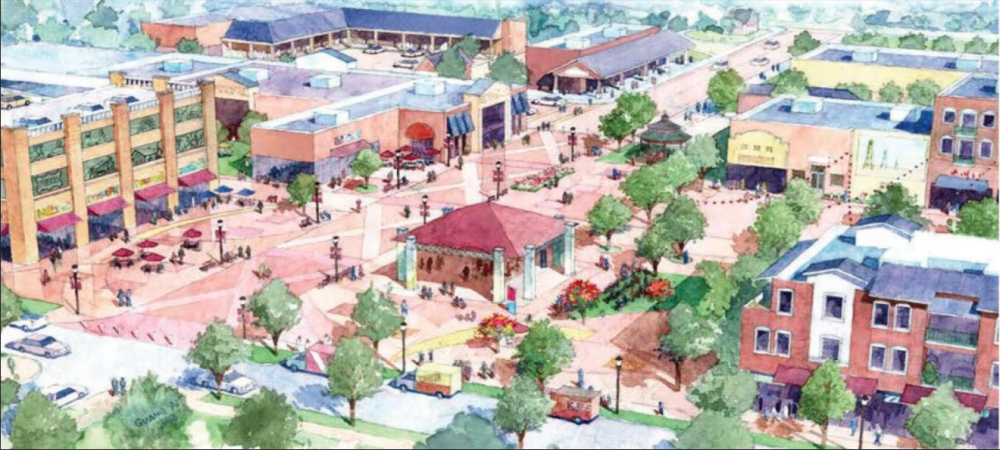 The Fourth Street Plaza is part of a downtown master plan that includes new development and road improvements. (Courtesy city of Frisco)