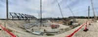 Construction began on the Austin FC soccer stadium in September. (Amy Denney/Community Impact Newspaper)