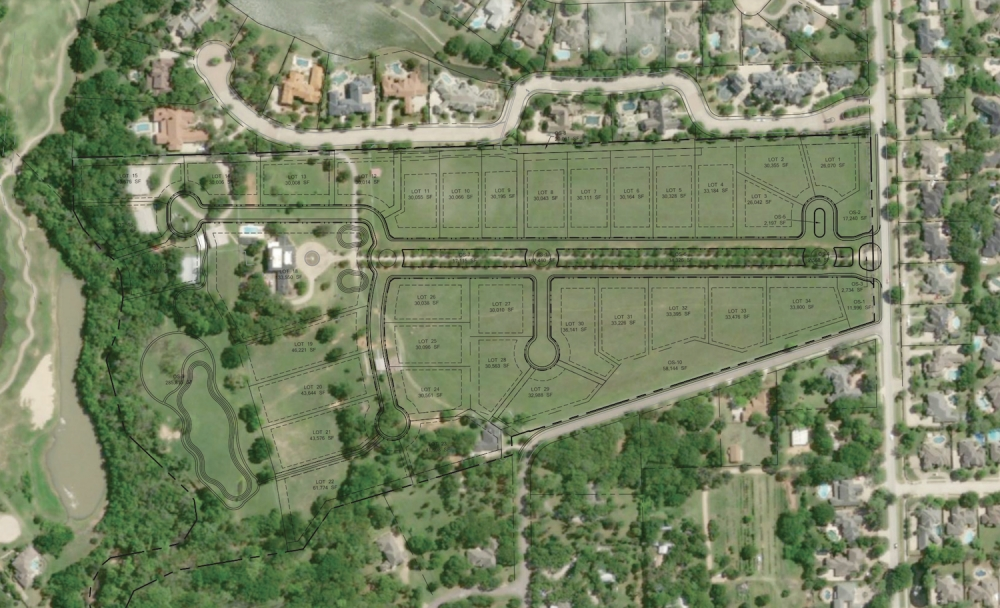 A final plat for the Oak Alley subdivision was approved by Colleyville City Council on Feb. 4. (Courtesy city of Colleyville)