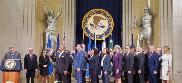 Frederick Frazier was appointed to the Presidential Commission on Law Enforcement and the Administration of Justice during a ceremony in Washington, DC on Jan. 22. (courtesy Tracy Frazier)