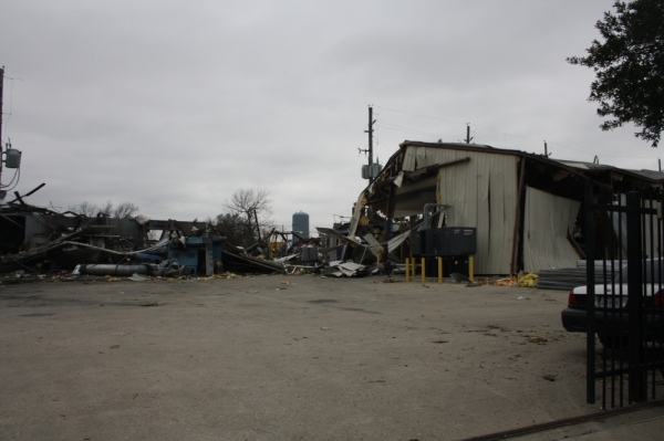 An investigation is underway at the site of a facility explosion on Gessner Road. (Shawn Arrajj/Community Impact Newspaper)