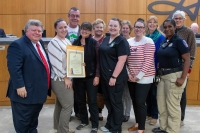 Representatives from the Georgetown Animal Shelter accept a proclamation from Mayor Dale Ross at the Jan. 28 city council meeting. (Courtesy Georgetown Animal Shelter)