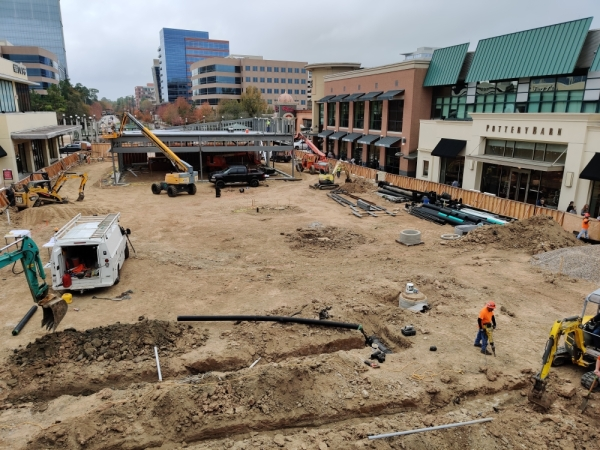 Ground was cleared early this year for a Shake Shack location. (Ben Thompson/Community Impact Newspaper)