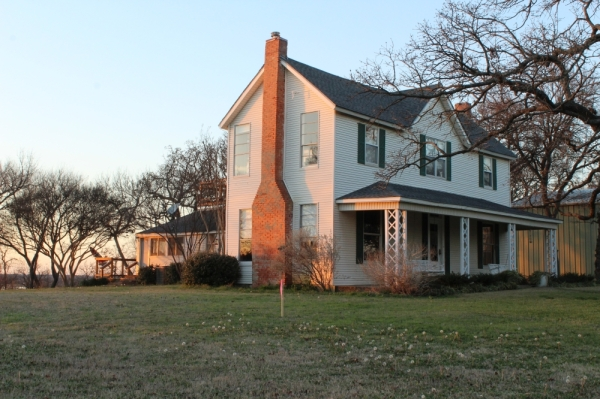 By the end of March, the historic farmhouse will be transported to and preserved in Grapevine. (Photo by Anna Herod/Community Impact Newspaper)