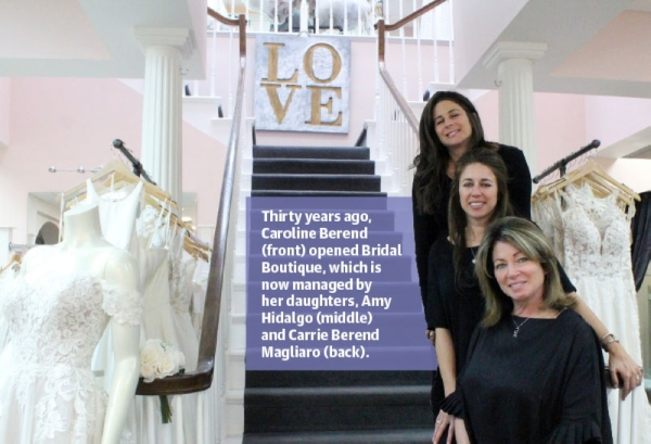 A love for weddings inspired Caroline Berend to open Bridal Boutique 30 years ago. Today, her daughters Amy Hidalgo and Carrie Berend Magliaro manage the store. (Photo by Anna Herod/Community Impact Newspaper)