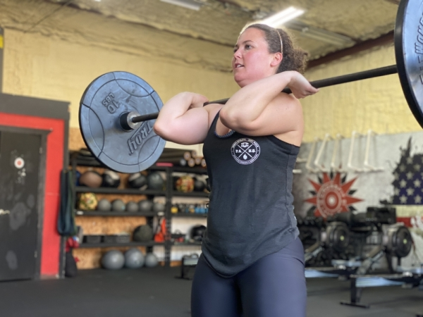 Client Ellen Jordahl has been working with Lakeway Elite Fitness for 18 months. (Photos by Brian Rash/Community Impact Newspaper)