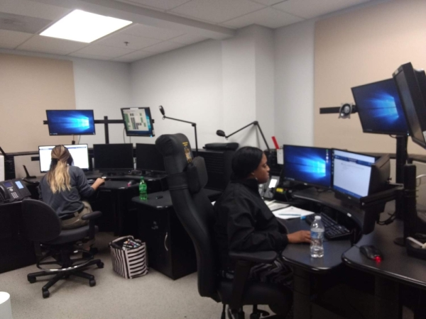 Fort Bend County dispatchers are trained at the sheriff's office to take emergency calls and direct law enforcement, fire and emergency management services to the call. (Jen Para/Community Impact Newspaper)