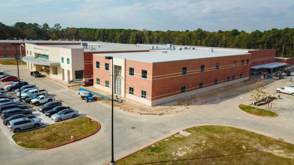 Students will be able to utilize the Woodridge Forest Middle School expansion in August. (Courtesy New Caney ISD)