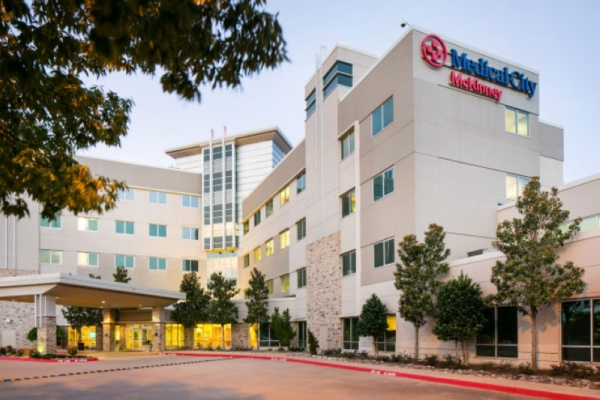 Medical City McKinney started building an emergency department expansion and a two-story patient tower in early January. (courtesy Medical City McKinney)
