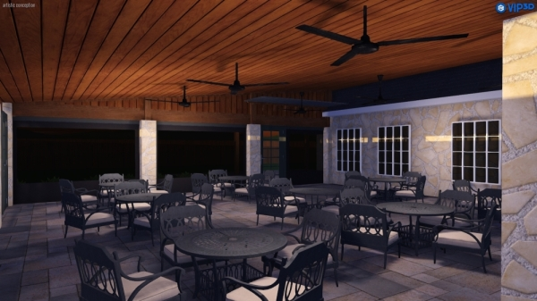 Stone House Restaurant will bring two new patio dining experiences to Colleyville. (Rendering courtesy Stone House Restaurant)