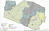 A map showing land uses for the county from the Williamson 2040 plan draft. (Courtesy Williamson County)