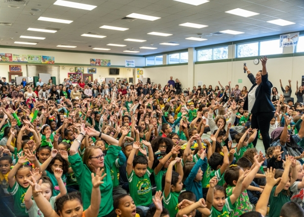 Anderson Elementary School celebrated its 40th anniversary in Spring ISD with current and past administrators, teachers and students at a special ceremony Jan. 24. (Courtesy Spring ISD)