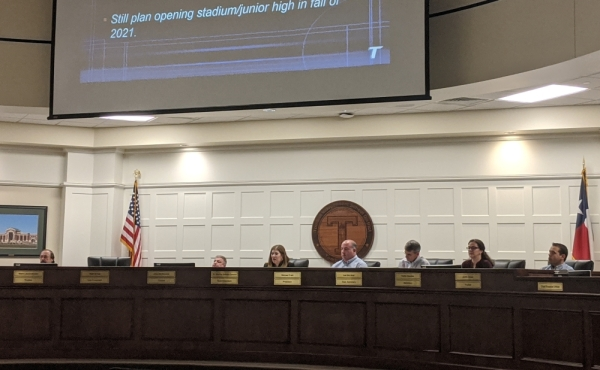 New junior high attendance boundaries were discussed during the Feb. 10 board of trustees workshop and approved unanimously Feb. 11. (Anna Lotz/Community Impact Newspaper)