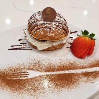 Sleek Chocolatier & Cafe offers a variety of chocolate dishes such as the Dark Chocolate with Hazelnuts Choco Burger ($7.99), which features fondant dark chocolate with crunchy Italian hazelnuts. (Courtesy Sleek Chocolatier & Cafe)