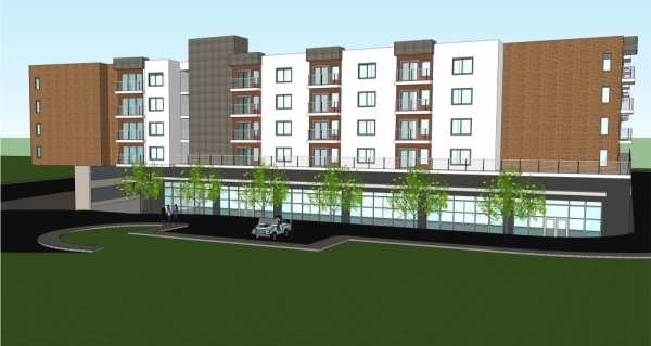 The Place at Mays Crossing will provide income-restricted multifamily housing. (Rendering courtesy RGC Multifamily)