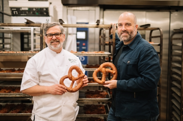 Easy Tiger announced Mike Stitt (right) as its news CEO. He will lead the bakery along with founder and head baker David Norman (left). The restaurant will open a location on South Lamar Boulevard in winter 2020. Courtesy Easy Tiger.
