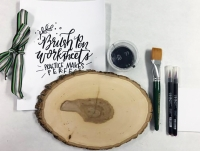 Create a piece of art for your home at a brush-lettered wooden sign workshop at Coolgreens in CityLine. (Courtesy CityLine)