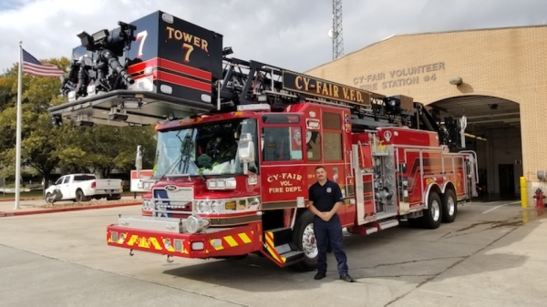 Harris County ESD No. 9 supports local fire and ambulance services. (Courtesy Cy-Fair Volunteer Fire Department)