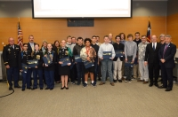 The Comal ISD CyberPatriots were recognized by the board of trustees on Jan. 30. (Courtesy of Comal ISD)