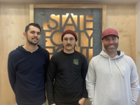 Stephen Polando (left), Nicholas Polando and Michael Spangenberg founded State Forty Eight in 2013. (Alexa D'Angelo/Community Impact Newspaper)