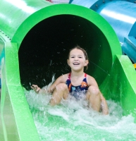 Splash Shack's eight indoor slides are open to children 3 feet or taller. (Brian Perdue, Community Impact Newspaper)