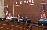 Bee Cave City Council Member Kara King (center) will take over as mayor of Bee Cave in May.