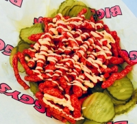 Cheetos Cheese Pickles from Biggy's (Courtesy Houston Livestock Show and Rodeo)