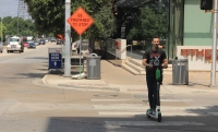 The city of Rollingwood voted Feb. 19 to ban the abandonment of motorized scooters within the city. (Community Impact Staff)